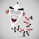 Paper Kite - Vector Illustration Stock Images