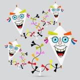 Paper Kites Illustration Royalty Free Stock Photo