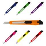 Paper knife, stationery, vector illustration. Vector illustration of paper knife Royalty Free Stock Image