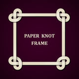 Paper knot frame background Royalty Free Stock Photo