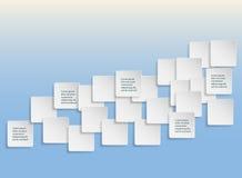 Paper kvadrerar banret med tappar skuggar vektor Royaltyfria Foton