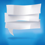 Paper labels as speech bubbles Royalty Free Stock Photos