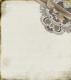 Paper and Lace Royalty Free Stock Images