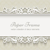 Paper lace background Stock Image