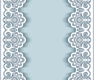Paper lace border background Royalty Free Stock Photo