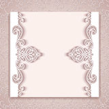 Paper lace card with cutout borders Royalty Free Stock Photo