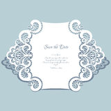Paper lace card Royalty Free Stock Photos