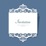 Paper lace card Stock Images