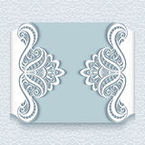 Paper lace card Stock Photography
