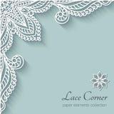 Paper lace corner vector illustration