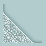Paper lace corner Royalty Free Stock Image