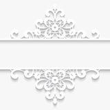 Paper lace divider frame royalty free illustration