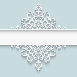 Paper lace divider frame Stock Photos