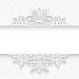 Paper lace divider frame. Abstract paper divider, lace background, ornamental frame on white pattern Royalty Free Stock Photos