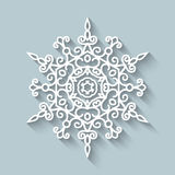 Paper lace doily. Decorative ornamental snowflake royalty free illustration