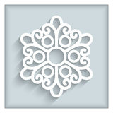 Paper lace doily Stock Photo