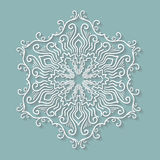 Paper lace doily, decorative snowflake, round Royalty Free Stock Image