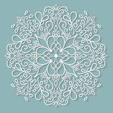 Paper lace doily, decorative snowflake, round Royalty Free Stock Photography