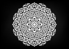 Paper lace doily. Laser cutting mandala. Oriental silhouette ornament. Circular ornament. Round lattice. Vector template for paper stock illustration