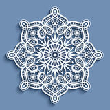 Paper lace doily, round crochet ornament Royalty Free Stock Photography