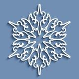 Paper lace doily, round crochet ornament. Paper lace doily, decorative snowflake, mandala, round crochet ornament stock illustration
