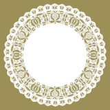 Paper lace edged circle doily Royalty Free Stock Image