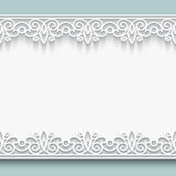 Paper lace frame stock illustration