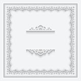 Paper lace frame Royalty Free Stock Photography
