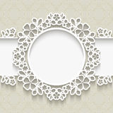 Paper lace frame Royalty Free Stock Image