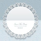 Paper lace greeting card Stock Images