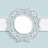 Paper lace label Stock Image