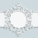 Paper lace label Stock Photography