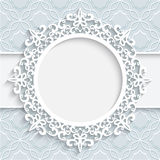 Paper lace label Stock Photo