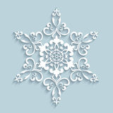 Paper lace snowflake Royalty Free Stock Photos