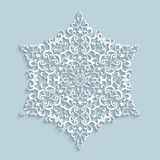 Paper lace snowflake Royalty Free Stock Images
