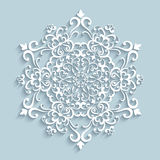 Paper lace snowflake Stock Photography