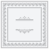Paper lace square frame Stock Photo