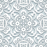 Paper lace texture, seamless pattern Royalty Free Stock Photos