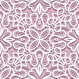 Paper lace texture, seamless pattern Royalty Free Stock Image