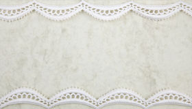 Paper with lacy border. Paper with white lacy border royalty free stock image