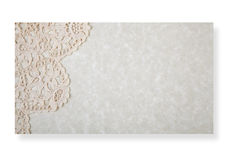 Paper with lacy border Stock Photography