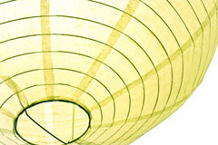 Paper lampshade. A close-up of a white paper lampshade Royalty Free Stock Photo