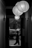 Paper lamp. Black and white photo Stock Images