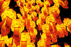 Paper lamp, lanterns festival. In Chiang Mai, Thailand Stock Images