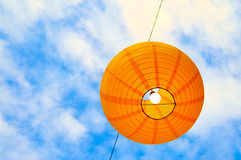 Paper lantern against the sky Stock Photos