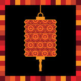 Paper lantern greeting card Stock Photo