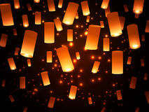 Paper Lantern Lights Stock Images