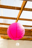 Paper Lantern Wedding Decor Royalty Free Stock Photography