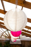 Paper Lantern Wedding Decor Stock Images