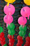 Paper lanterns for buddhas birthday, day temple korea Stock Image
